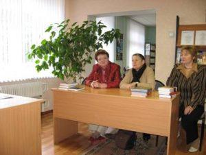 Встреча с писательницей Л.Улицкой (в центре)