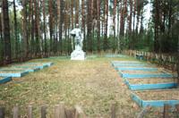 Здесь захоронено несколько сотен солдат, умерших в военном госпитале д. Николаевка